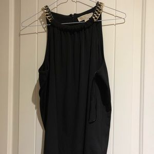 Michael Kors Black and chain detail top